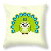 Peacock  - Birds - Art For Kids Throw Pillow
