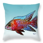 Peacock Cichlid Throw Pillow