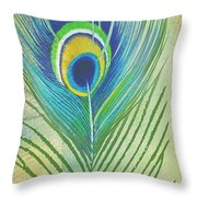 Peacock Feathers-jp3609 Throw Pillow