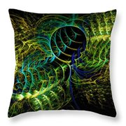 Peacock Flurry Throw Pillow