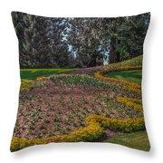 Peacock Garden Throw Pillow
