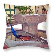 Peacock - Havana Cuba Throw Pillow