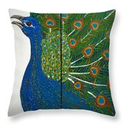 Peacock Iv Throw Pillow