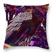 Peacock Lisbon Castle Animal Life  Throw Pillow
