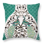Peacock Love-2 Throw Pillow