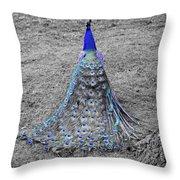 Peacock Plumage Throw Pillow