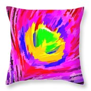 Peacock Rainbow Throw Pillow