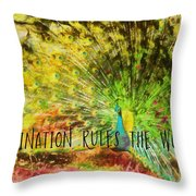 Peacock Strut Quote Throw Pillow