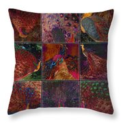 Peacocks Throw Pillow