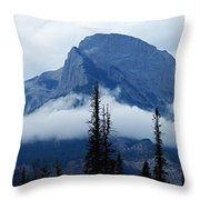 Peak Above The Clouds Throw Pillow