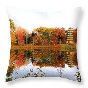 Peak Autumn Reflection 7 Throw Pillow