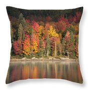 Peak Begins Throw Pillow