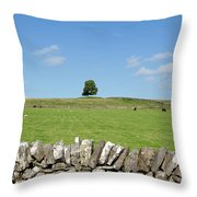 Peak District Landscape Throw Pillow