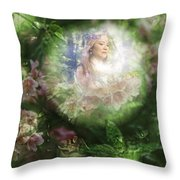 Peaking At Earth Throw Pillow
