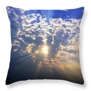 Peaking Behind The Clouds Throw Pillow