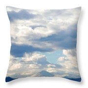 Peaks Among The Clouds Throw Pillow