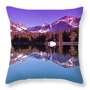 Peaks In The Mirror Throw Pillow