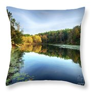 Peaks Of Otter Reflection Throw Pillow