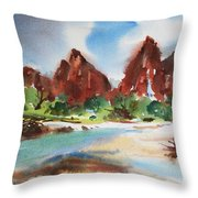Peaks Of Zion Throw Pillow