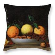 Peale Dessert 1814 Throw Pillow by Granger