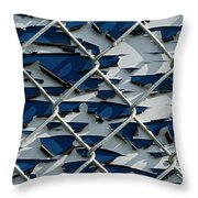 Pealing Paint Fence Abstract 1 Throw Pillow