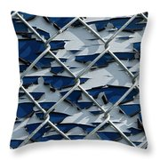 Pealing Paint Fence Abstract 3 Throw Pillow