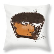 Peanut Butter Cup Throw Pillow by Linda Woods