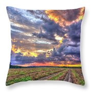 Peanuts, Clouds And Sun Throw Pillow