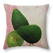 Pear And Avocados Throw Pillow