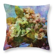 Pear Blossoms 8976 Idp_2 Throw Pillow