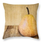 Pear On Cutting Board 2.0 Throw Pillow