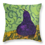 Pear Patterns Throw Pillow