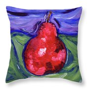 Pear Portrait Throw Pillow