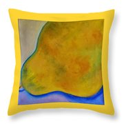 Pear Solo Throw Pillow