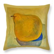 Pear Solo Two Throw Pillow