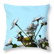 Pear Tree Blossoms 5 Throw Pillow