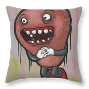 Pear Troll Throw Pillow