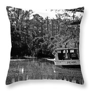 Pearl And The Sparkling Waters Throw Pillow