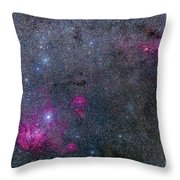 Pearl Cluster And Lambda Centauri Throw Pillow