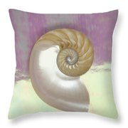 Pearl Nautilus Shell Throw Pillow