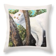 Pearl Up A Tree Throw Pillow