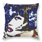 Pearlesqued Woman Throw Pillow