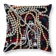 Pearls 3 Throw Pillow