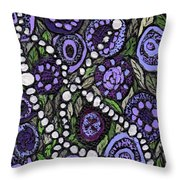 Pearls In The Garden Throw Pillow