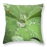 Pearls On Leaf Throw Pillow