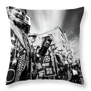 Pearly Kings And Queens Of London Hoxton Brick Lane Throw Pillow
