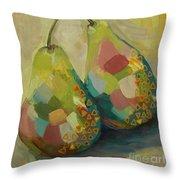 Pears A La Klimt Throw Pillow