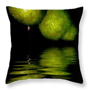 Pears And Its Reflection Throw Pillow
