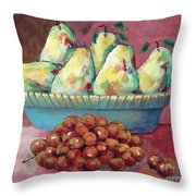Pears In A Bowl Throw Pillow
