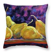 Pears Mioummmmmmmmmm Throw Pillow